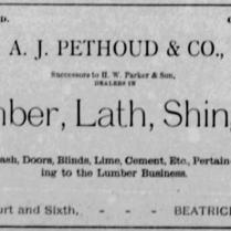 a pethoud lumber 1886