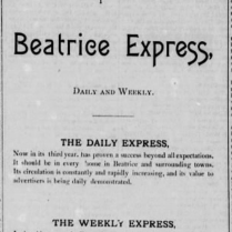 beatrice express paper 1886