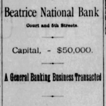 beatrice national bank 1886
