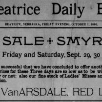 begole & van arsdale store 1886
