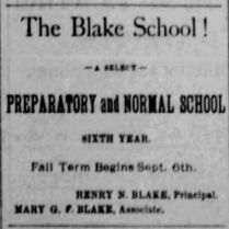 blake school 1886