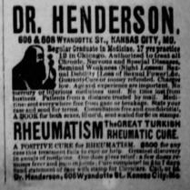 dr henderson rheumatism 1886