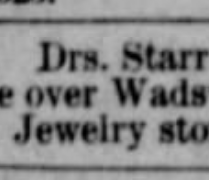 drs starr 1886