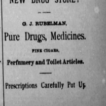 g j rubelman drugs 1886