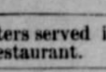 Gettemy's restuarant 1886