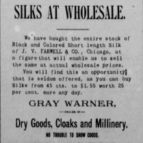 gray warner silks 1886