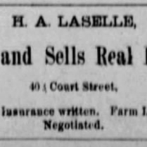 h a laselle real estate 1886