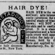hair dye 1886