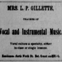 l p gillette music 1886