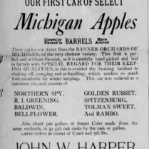 michigan apples harper 1886