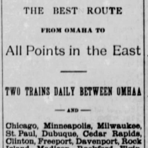 omaha chicago lines 1886
