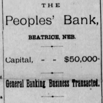 peoples banks 1886