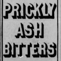 prickly ash bitters 1886