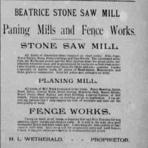 stone saw mill 1886