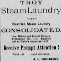 troy steam laundry 1886