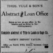 yule & sons loans 1886
